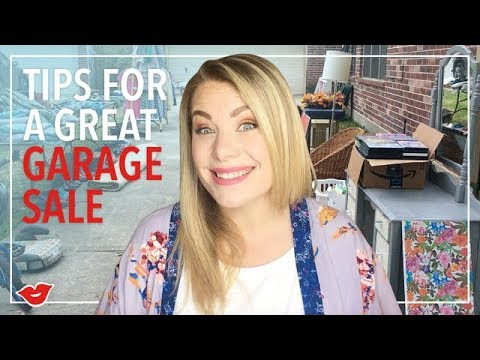 Tips for a Great Garage Sale | Eden from Millennial Moms