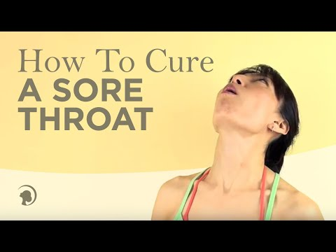 How To Get Rid Of A Sore Throat http://faceyogamethod.com/ - Face Yoga Method
