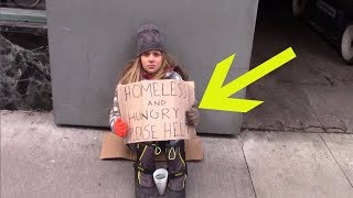 When A Homeless Girl Begged On The Streets, A Passing Stranger Returned With An Offer