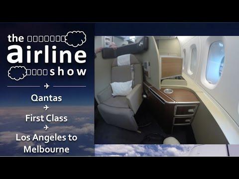 Qantas   First Class   A380   Los Angeles - Melbourne