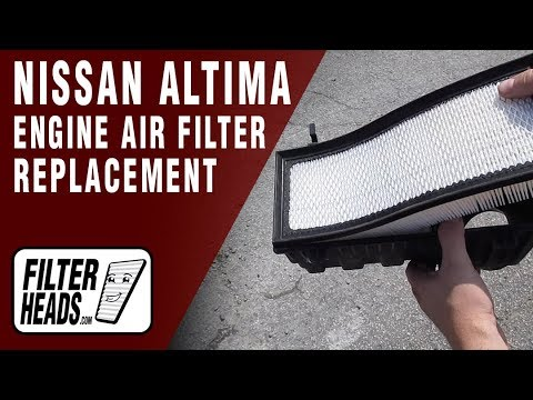 How to Replace Engine Air Filter 2007 Nissan Altima L4 2.5L