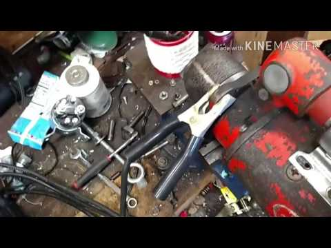Bench test and solenoid replacement on tractor starter