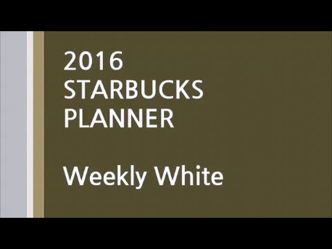 2016 STARBUCKS PLANNER Weekly White / 스타벅스 플래너 2016 (화이트)