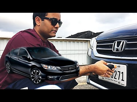 HOW TO REMOVE FRONT LICENSE PLATE (9th GEN ACCORD)