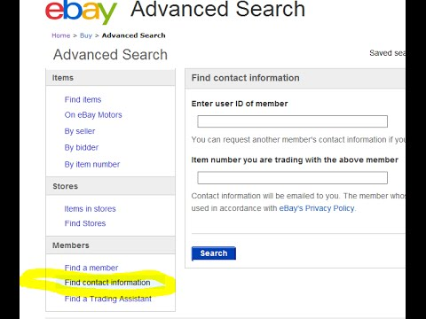How to Get Ebay Contact Information (Phone Number Name Address Acquire Ebayer Buyer Seller 2016)