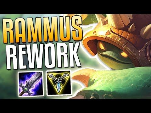 RAMMUS REWORK! ATTACK SPEED SPLIT-PUSHER NOW? - League of Legends