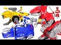 Giant Centipede Appeared In Tayo Town Go Power Rangers Red Yellow Blue Dinosaur DuDuPopTOY