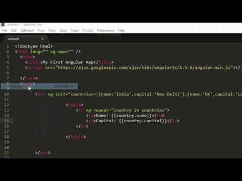 ng repeat directive in AngularJS tutorial for beginners
