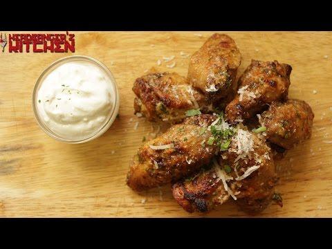 Garlic Parmesan Chicken Wings   Keto Recipes   Headbanger's Kitchen