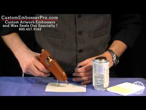 Custom Embosser Pro: How To Make a Wax Seal Impression