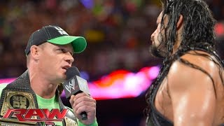 John Cena confronts Roman Reigns: Raw, July 14, 2014
