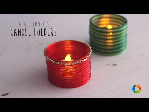 DIY Glass Bangles Candle Holders | Votive | Homemade