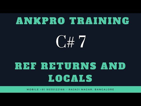 C# 7 Chapter 6 : Ref Returns and Locals