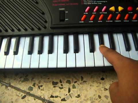 HOW TO PLAY VANDE MATARAM ON PIANO [or casio]
