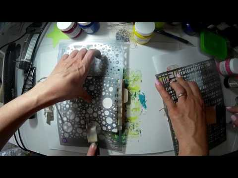 Creating a Junk Journal with Athanasia - painting cover with Impasto Paints