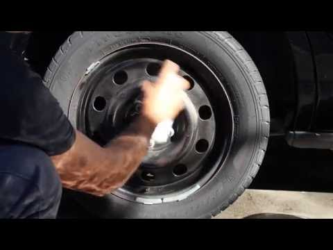 How To Make Your Tires Look Brand Spanking New (Crown Victoria Police Interceptor wheels )