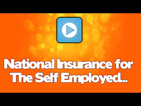 National Insurance for the self employed - basics