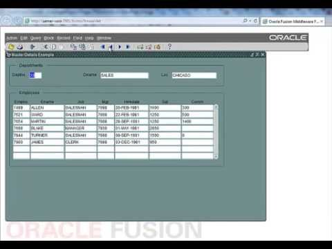 build master details with Oracle Forms