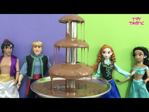 Xxx Mp4 نافورة الشوكولا بين امراء ديزني واميرات ديزني العاب اطفال بنات صغار بالعربي Chocolate Fountain 3gp Sex