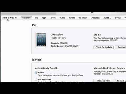 Sync iTunes with iPad or iPhone