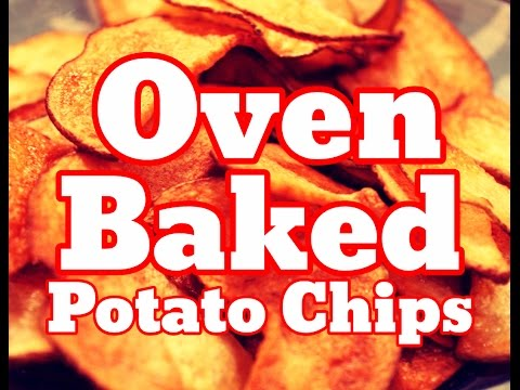 How To Make Oven Baked Potato Chips At Home Recipe - Best Tasty Chips