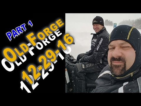 Old Forge Snowmobiling 12-29-16: PART 1