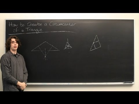 How to Create a Circumcenter of a Triangle : High School Math