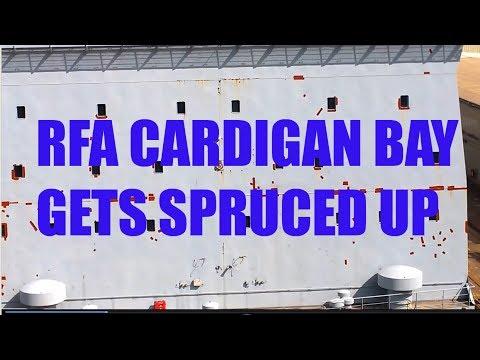 CRHnews   RFA Cardigan Bay gets spruced up in Falmouth drydock