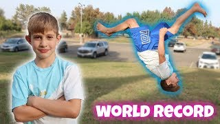 8 YEAR OLD BREAKS WORLD RECORD!