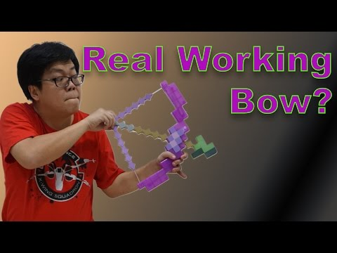 REAL Bow Action!! - Minecraft Enchanted Bow