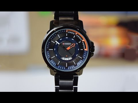 Unboxing & Review: Curren Classic Black Mens Watch