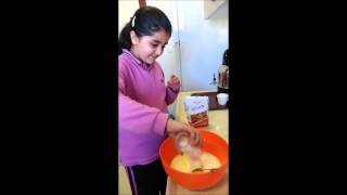 Making a cake...