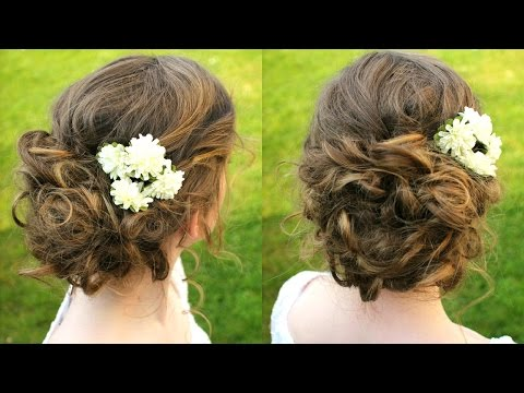 How to :  Curly / Boho Updo Hair Tutorial | Braidsandstyles12