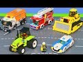 Pelleteuse Tractopelle Camion De Pompier Voiture De Police Trains Jouets Excavator Toys