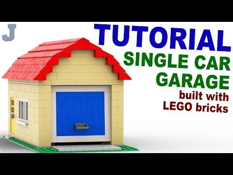LEGO Single Car Garage TUTORIAL How To