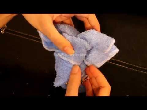 how to make a cute elephant with towel / como hacer un elefante con toalla