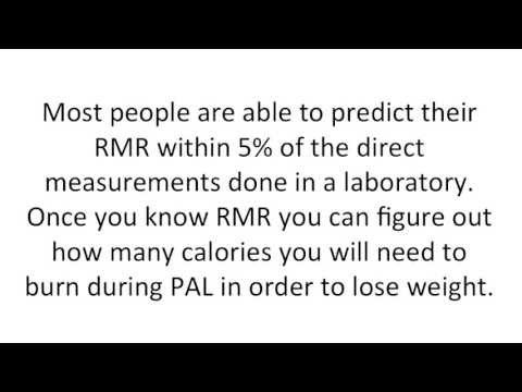 Resting Metabolic Rate Calculator -- The Formula To Calculate Resting Metabolic Rate