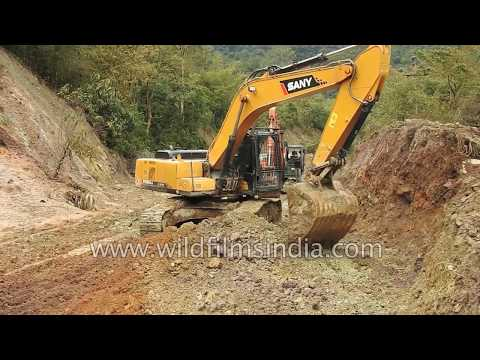 Rainforest gives way to roads: Construction in Arunachal Pradesh, India