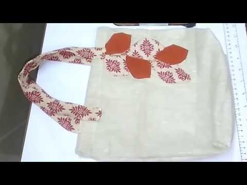 How To Make Shopping Bag With Jute Cloth    DIY Shopping Bag