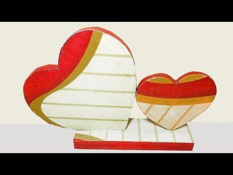 Heart showpiece DIY | Best out of waste