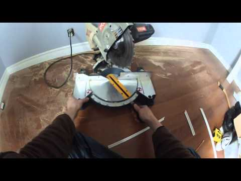 How to cut 90 degree cove moulding