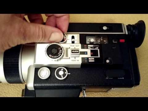 Canon 1014 Auto Zoom Super 8mm Movie Camera Demonstration