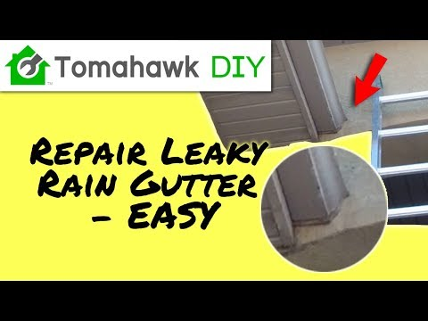 Leaking Gutter Repair (Quick and Easy)