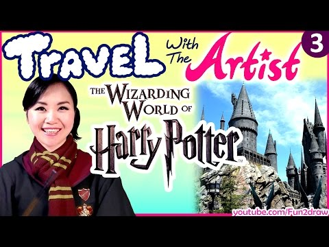 FUN at Wizarding World of HARRY POTTER | Travel with the Artist | Travel Vlog