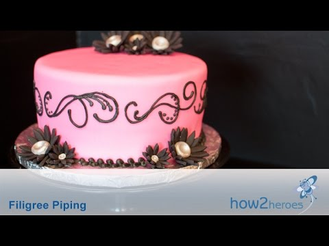 Filigree Piping - Cake Decorating