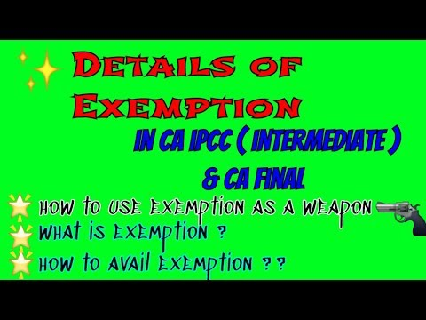 Details of EXEMPTION in CA-IPCC/INTERMEDIATE   VALIDITY of Exemptions   HOW to plan Study in CA  