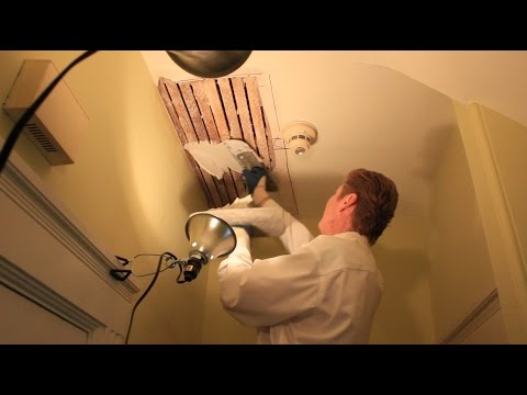Remove and repair a plaster ceilings interior ceiling patchwork