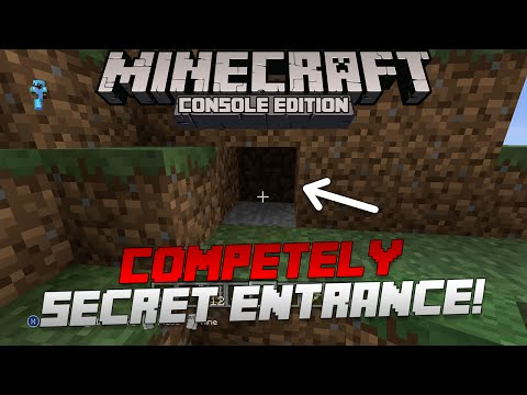Minecraft: How to Make a 100% Invisible Secret Base! | Minecart Method [Xbox & Playstation]