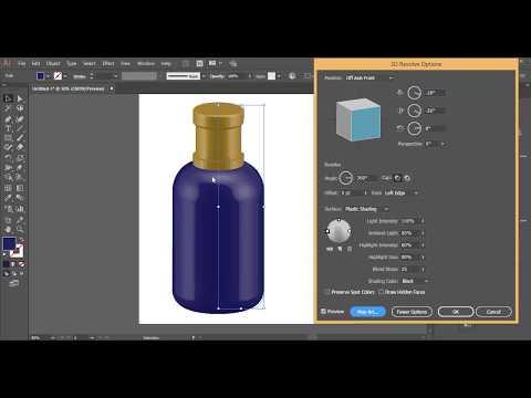 Adobe illustrator - 3d bottle illustration