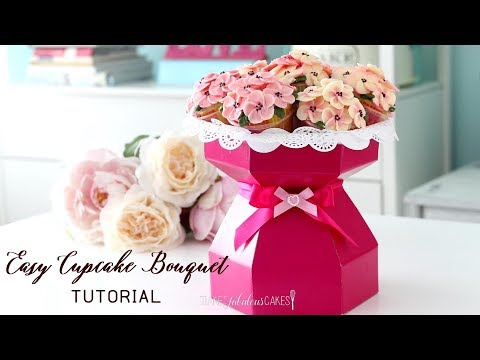 Easy Cupcake Bouquet Tutorial